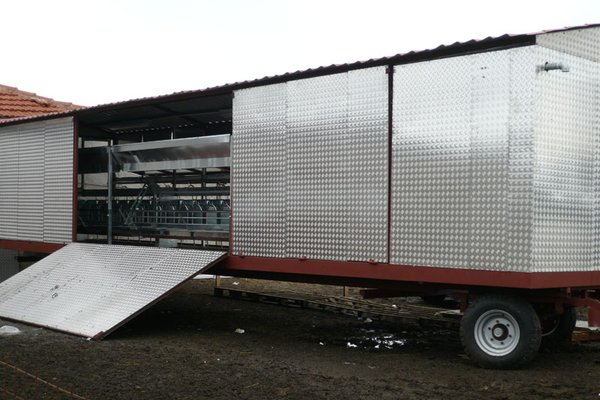 Milking Equipment on a Truck